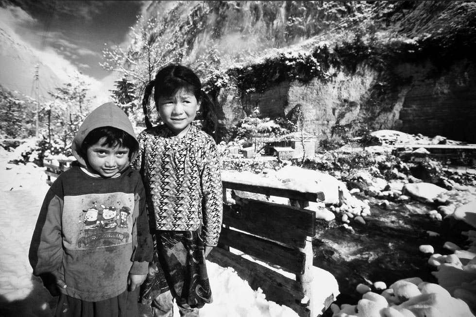 Children in Chame, Nepal