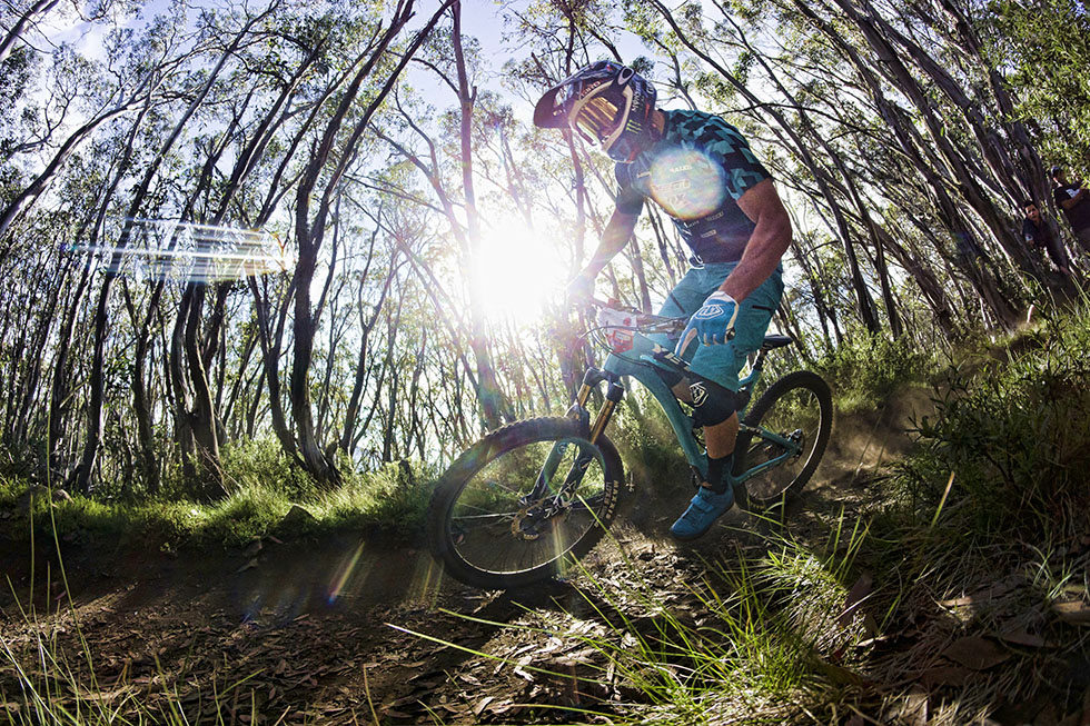 Jared Graves competes in the Rockshox Enduro Challenge Powered by Sram at Mount Buller Victoria, Australia on February 1 2015